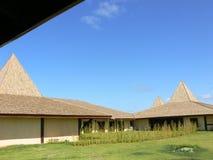 afrikanskt borggårdhotell arkivbild