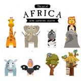 Afrikanskt djur med trädet - Fotografering för Bildbyråer