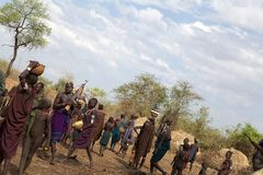 Afrikanskt folk Arkivfoton