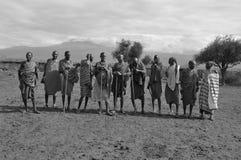 Afrikanskt folk från Masaistammen Royaltyfria Foton