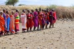Afrikanskt folk från Masaistammen Royaltyfri Bild