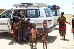 Afrikanskt folk och turism Royaltyfri Foto