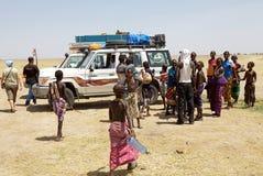Afrikanskt folk och turism Royaltyfria Foton