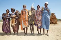Afrikanskt folk på byn Royaltyfri Fotografi