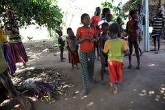 Afrikanskt folk Fotografering för Bildbyråer