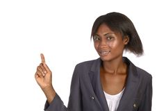 Afrikanskt framlägga för affärskvinna Arkivfoto