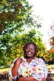 afrikanskt gulligt ståendekvinnabarn Fotografering för Bildbyråer