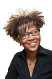afrikanskt härligt leendekvinnabarn Arkivbilder