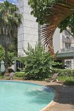 afrikanskt hotell Royaltyfria Bilder