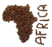 afrikanskt kaffe Royaltyfri Fotografi