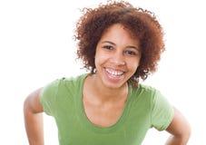 afrikanskt le för flicka Arkivbild