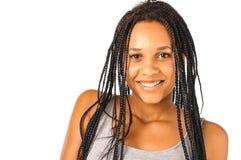 Afrikanskt le för flicka royaltyfri bild