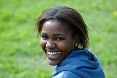 afrikanskt leende Arkivbild