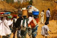 Afrikanskt liv Arkivfoto