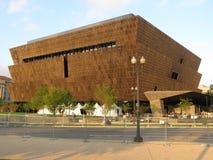 Afrikanskt museum på solnedgången Arkivbild