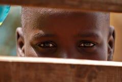 afrikanskt pojkebarn Arkivbild