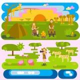 Afrikanskt safaribegrepp royaltyfri illustrationer