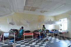afrikanskt sjukhus Arkivfoto