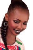 afrikanskt skönhetmode fulani Fotografering för Bildbyråer