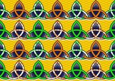 Afrikanskt tryck för textilmode stock illustrationer