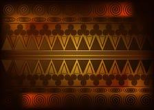 Afrikanskt trycktyg, etnisk handgjord prydnad för dina geometriska beståndsdelar för för design, etniska och stam- motiv Vektorte royaltyfri illustrationer