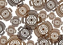 Afrikanskt trycktyg, etnisk handgjord prydnad f?r dina geometriska best?ndsdelar f?r f?r design, etniska och stam- motiv Vektorte vektor illustrationer