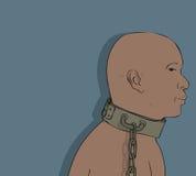Afrikanslav royaltyfri illustrationer