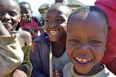 Afrikanungar - Massai Arkivbild