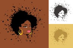Afro Illustration de Vecteur