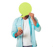 Afro-américain avec la bulle et l'instrument de la parole Photo libre de droits