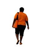 Afro-américain de poids excessif photo libre de droits