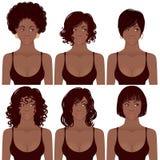 Afro-américain et coiffures illustration de vecteur