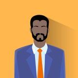Afro-américain masculin d'homme d'avatar d'icône de profil Photos libres de droits
