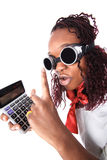 Afro american accountant Stock Image