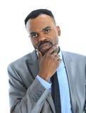 Afro-American affärsman Arkivfoton