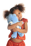 Afro American Asian children with his teddy Stock Image