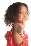 Afro american beautiful girl children with black c Stock Photography