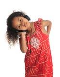 Afro american black asian beautiful children hair Stock Images