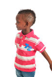 Afro american black child smiles isolated 11 Stock Image