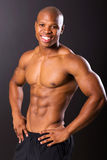 Afro american bodybuilder Stock Photo