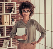 Afro American business woman Royalty Free Stock Image