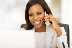 Afro american business woman Stock Image