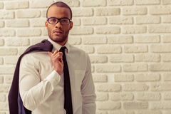 Afro American businessman Stock Images