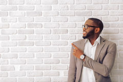 Afro American businessman Stock Image