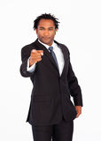 Afro-American businessman pointing at the camera Stock Images