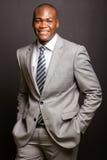 Afro american businessman posing Royalty Free Stock Photo