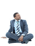 Afro-american businessman relaxing Stock Image