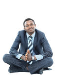 Afro-american businessman relaxing Royalty Free Stock Photos