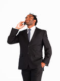 Afro-american businessman talking on the phone Stock Photo