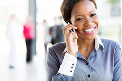Afro american businesswoman Stock Photo